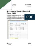 33 Excel 2003 Intro