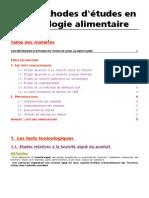 Tox.etudes Toxicologiques Alimentaires