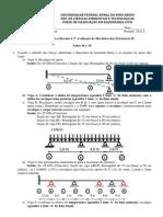 Lista de Exercícios 2ª Avaliação de Mecânica Das Estruturas II - c
