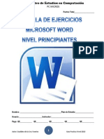 Cartilla de Ejercicios de Word PC MICROS