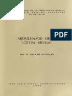 Abdulhamid Devri Egirim Sistemi