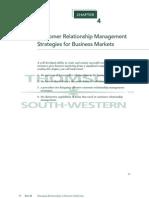 Customer Relationship Management Strategies for Business Markets