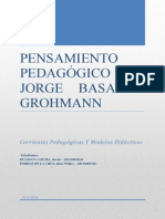 Pensamiento pedagogico JBG