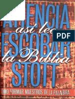 Así Leo La Biblia (J. Atiencia - S. Escobar - John Stott)