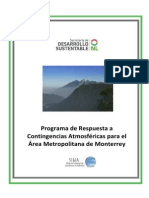 Programa de Calidad Del Aire Monterrey