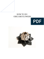 How to Do Origami Flowers