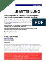 Andre Shepherd Anstifter Vorschlag Friedens-Preis