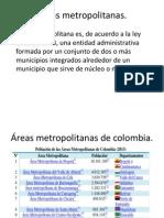 Áreas metropolitanas