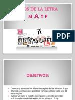 Usos de Las Letras m,ñ y p