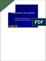 Using MySQL With LabVIEW