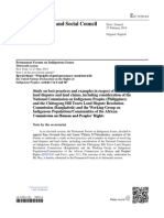 Study on best practices and examples in respect of resolving land disputes and land claims- study by Raja Devasish Roy