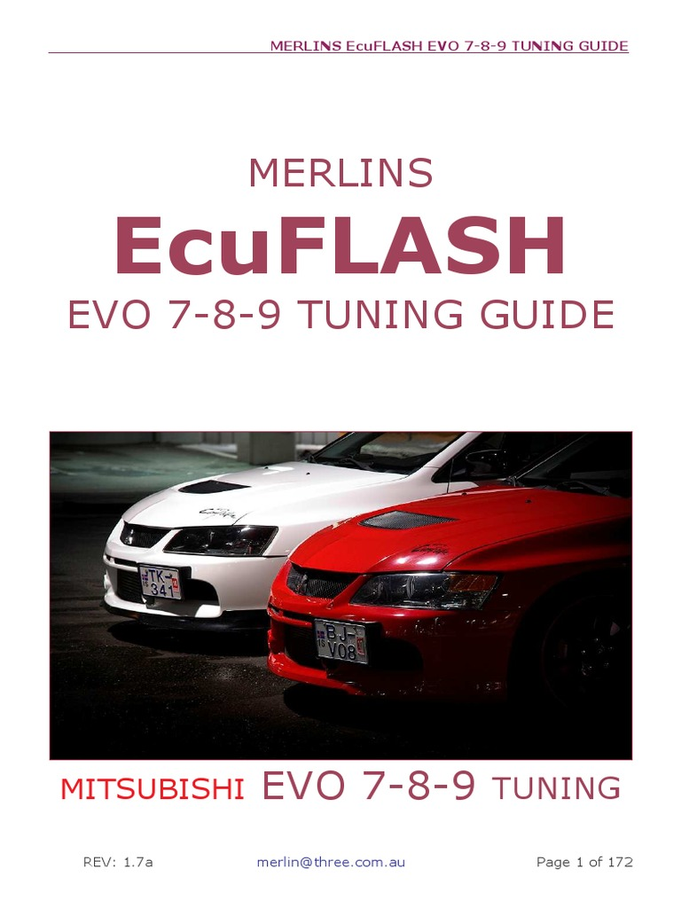 Merlins Ecuflash Evo 7-8-9 Tuning Guide-V1.7a | Turbocharger | Computer File