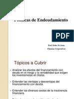 Finanzas Corporativas - Politica de Endeudamiento