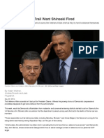 Democrats on the Trail Want Shinseki Fired - NationalJournal