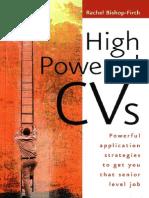 High Powered CV - Rachel Bishop-Firth