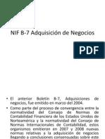 NIF B-7 Adquisición de Negocios