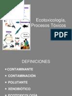 Ecotoxicologia, Procesos Tóxicos.