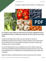 Una Guía a Todo Color Para Comer Siete Frutas o Verduras Al Día - BBC Mundo - Noticias