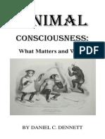 Animal Conciousnes Daniel Dennett