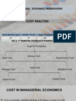 Cost Analysis in Microeconomics