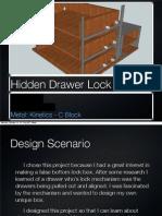 Hidden Drawer Lock Mechanism Design Folder