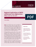 Regional Implications of NATO Withdrawal From Afghanistan - What Role for the EU