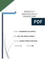 Semiotica y Semantica en La Arquitectura