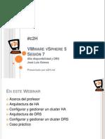 Curso Gratuito VMware VSphere 5 ONLINE - Alta Disponibilidad y DRS