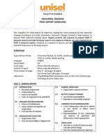 Industrial Training Final Report Guidelines