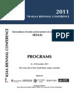 7th KSAA Conf Program