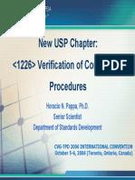 Usp Verification of Compendial Procedures