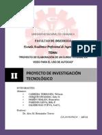 """Proyecto de Investigaciã""""n Tecnolã""""Gico"""