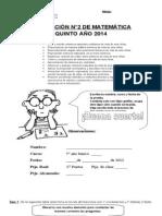 Evaluacion 2 Grandes Numeros 2014