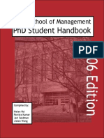 2006 Sloan Phd Handbook