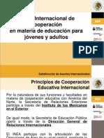 marco internacional de cooperacion en materia de educacion para jovenes y adultos.