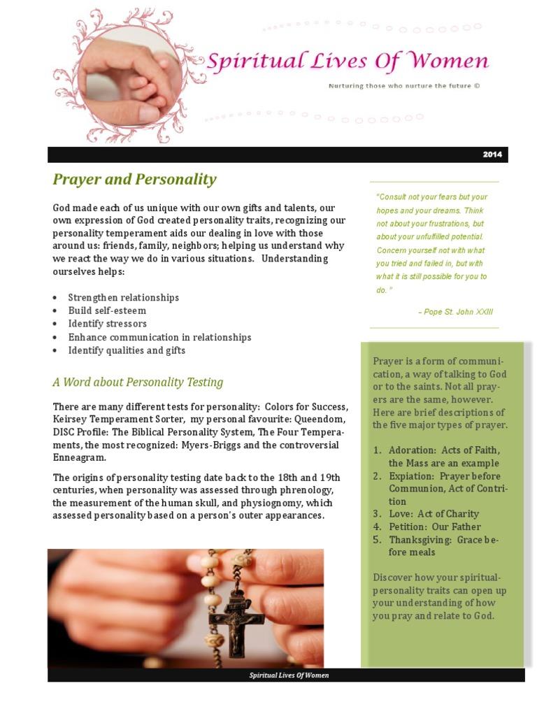 Prayer personality prayer temperament altavistaventures Gallery