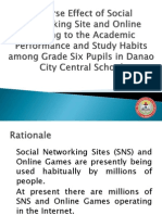 Adverse Effect of Social Networking Site and Online gaming