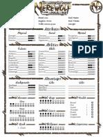 W20 - Character Sheet