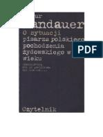 Artur Sandauer - O sytuacji pisarza polskiego pochodzenia żydowskiego w XX wieku - 1982 (zorg)