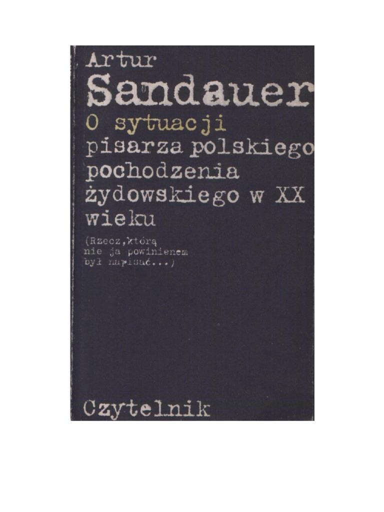 Artur Sandauer O Sytuacji Pisarza Polskiego Pochodzenia