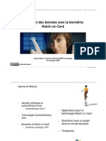 WebCast Protection des données avec La Biometrie Match on Card