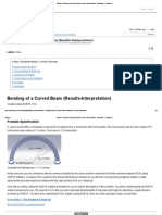 ANSYS - Bending of a Curved Beam (Results-Interpretation) - Simulation -Confluence