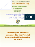 Geotechnical Information