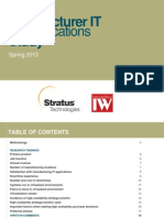 Manufacturer IT Applications Study