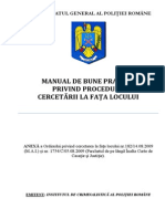 Manual de Bune Practici Privind Procedura Cercetarii La Fata
