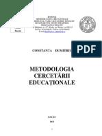CURS_Nivel II, Metodologia Cercetarii Educationale, Dumitriu, 2013