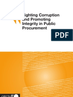 Fighting Corruption and Promoting Integrity in Public Procurement