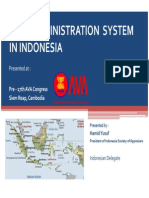 Land Admin System in Indonesia