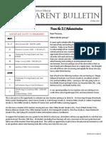 ES Parent Bulletin Vol#17 2014 May 23