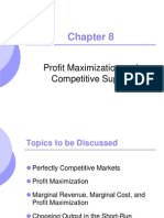 Microeconomics Lecture ----profit maximization and competitive supply